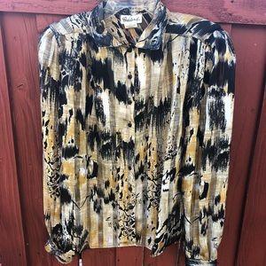Women's vintage artsy Longsleeve statement blouse